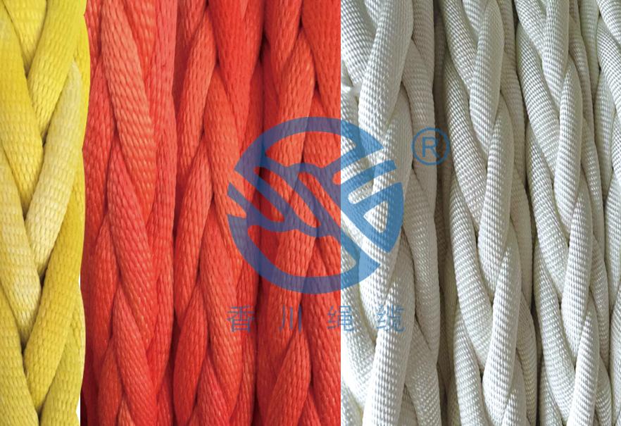 高分子聚乙烯纤维具有经纬有梭编织护套绳股的缆绳